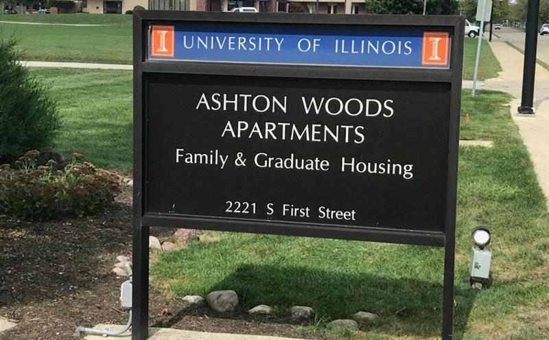 Ashton Woods Apartments sign